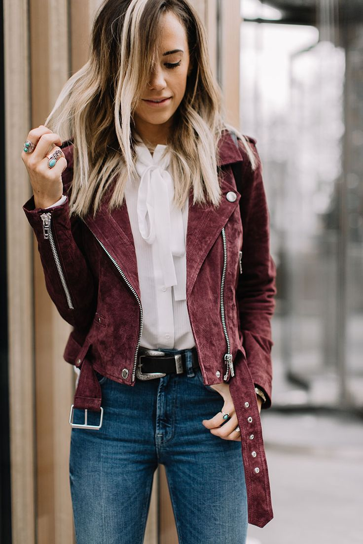 Maroon motto jacket