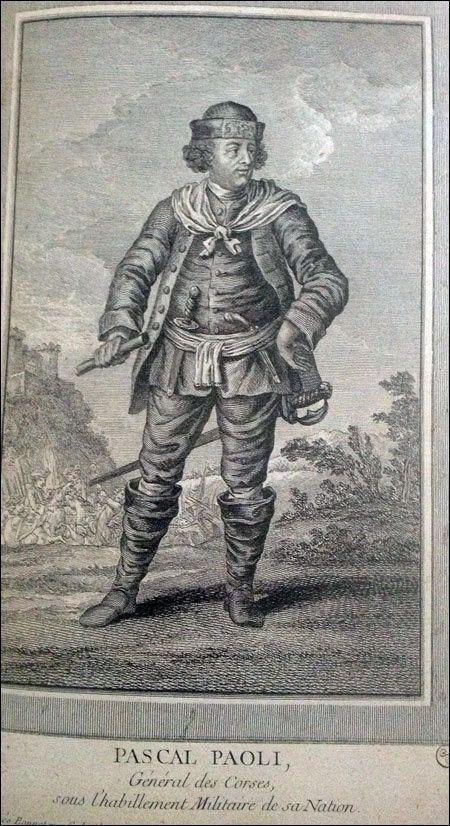 Pasquale Paoli in custume militare corsu (autore anònimu) :