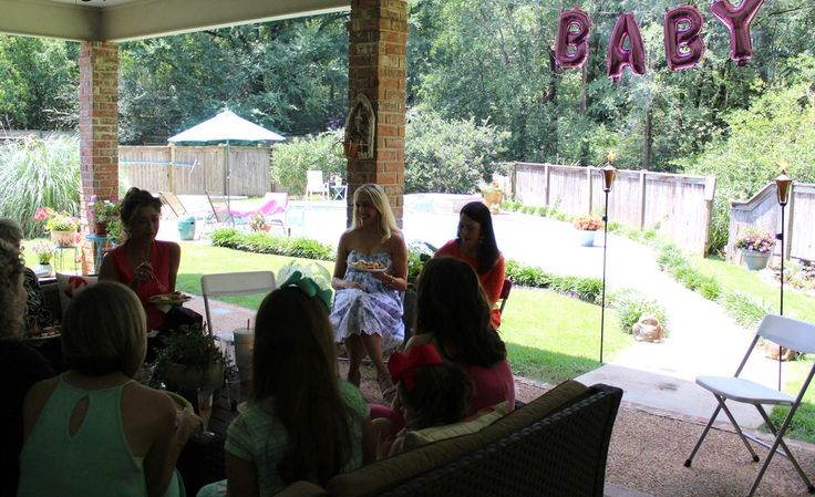 Baby Shower Brunch, outdoor decorations, activities, mom-osa bar, baby shower girl