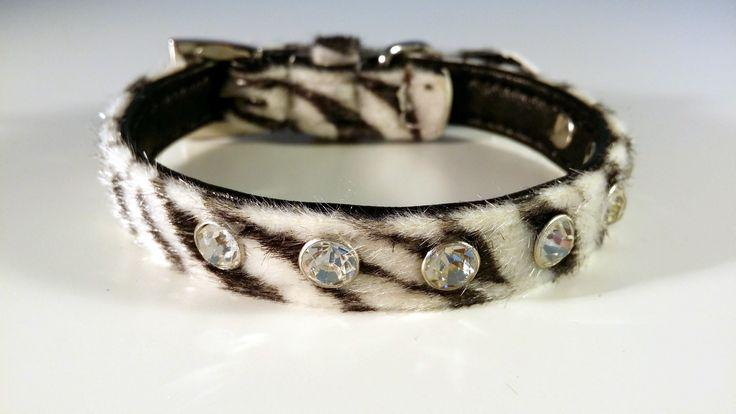 Luxuriöses Set Zebra Leine & Halsband