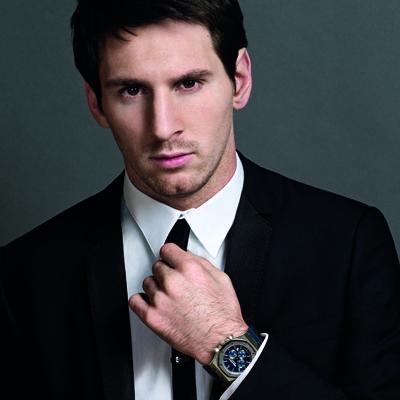 Leo Messi with his Audemars Piguet