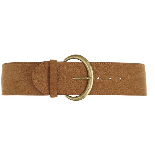 Dorothy Perkins Tan 70's Suedette Waist Belt ($9.13) ❤ liked on Polyvore featuring accessories, belts and brown