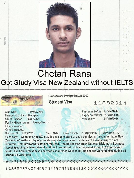 New zealand intake for study