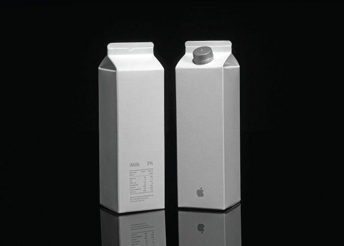 アップルの牛乳 もしもデザイン界の一流ブランドが日常的な食品を販売したら - K'conf