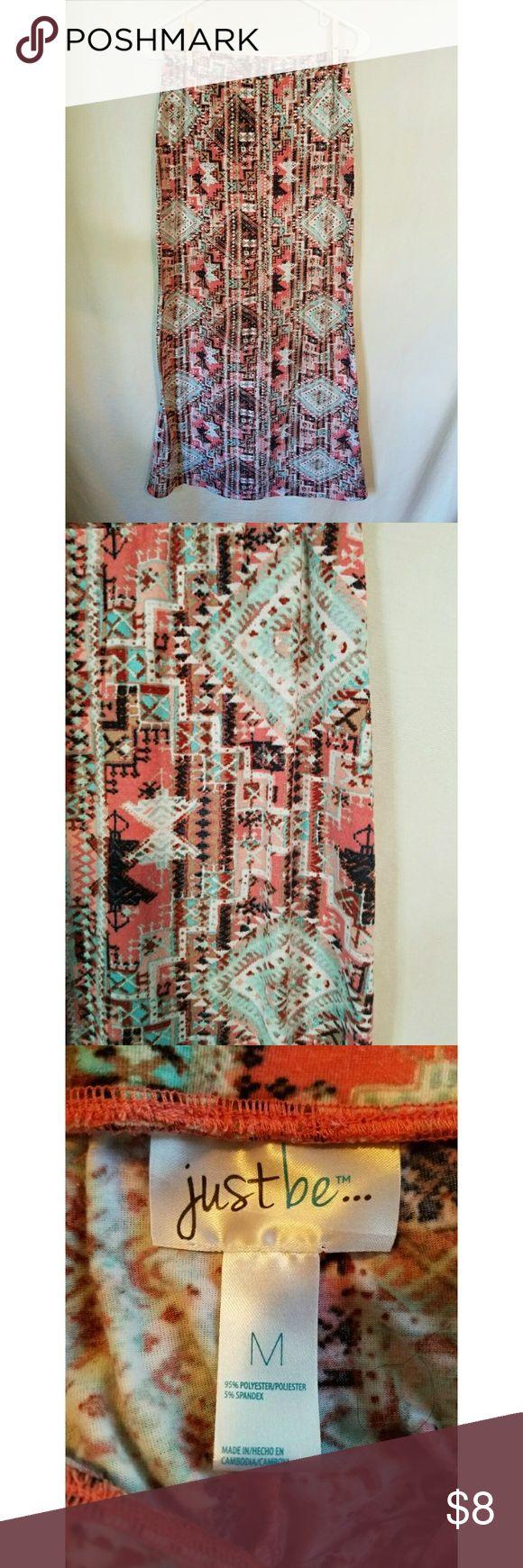 Coral & Mint Tribal Maxi Skirt Size Medium Skirts Maxi