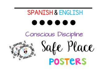 These posters are perfect for the dual language classroom, conscious discipline classroom, and frogstreet. Two Posters:1. Safe Place2. Zona de Tranquilidad{Please rate and leave comments. Thanks for browsing and shopping at my store!!} :DClipart by MelonheadzFonts by Kimberly Geswein Fonts