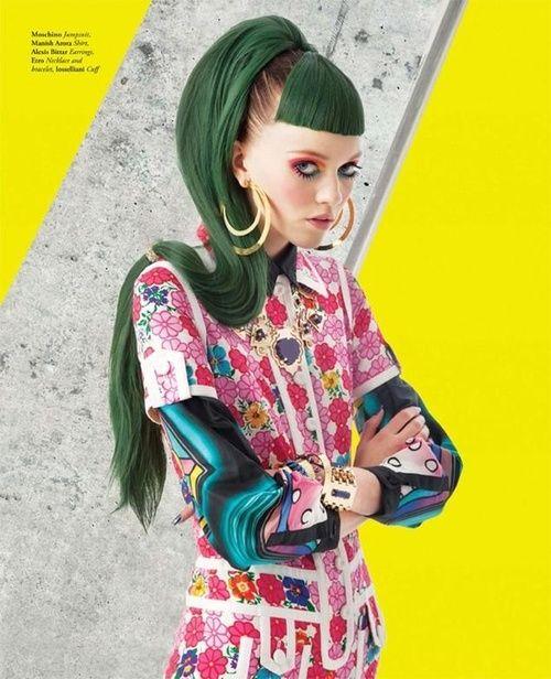 Green hair!