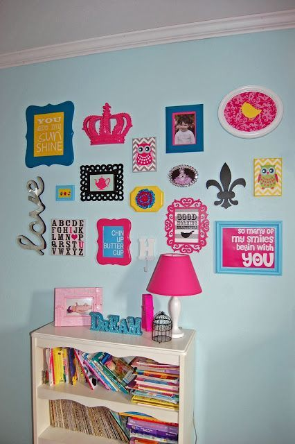 Pinkie for Pink: Big Girl Bedroom Reveal!! Not pink! But I like the ideas...