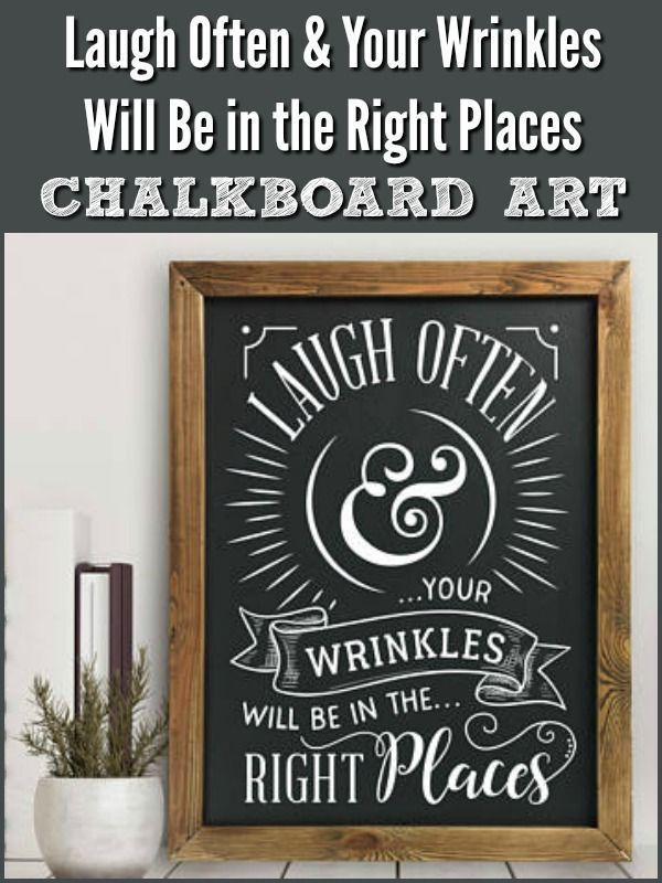 printable chalkboard art template laugh often your wrinkles will