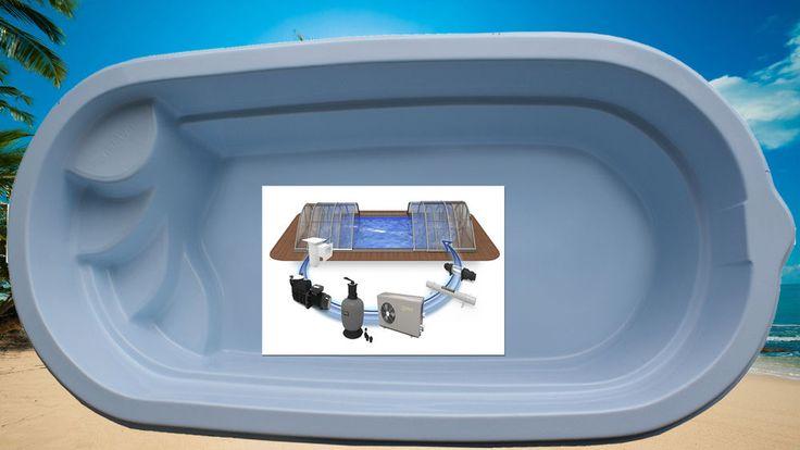 GFK Schwimmbecken 4,8 x 2,5 GFK Pool vollisoliert Fertigpool Einbaubecken