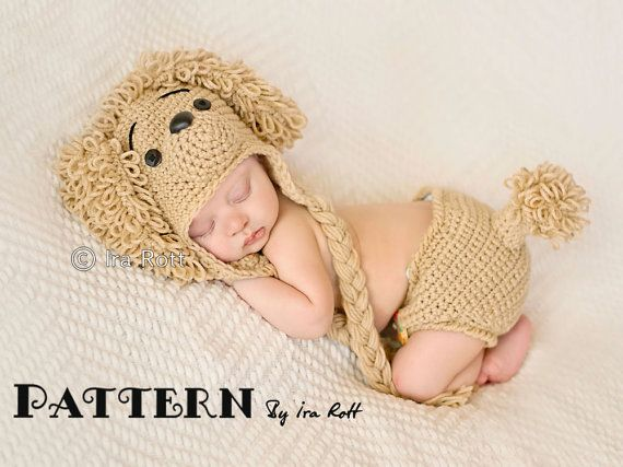 PATTERN  Loopy the Poodle Hat & Diaper Cover   by FashionPatterns, $7.50