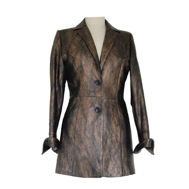 leren colbert van Exte, maat 38. Tweedehands Klassekleding : kleding waar vrouwen van houden .