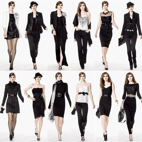 Black white clothes fashion 62