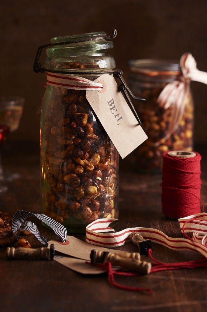 Festive Honey-Roasted Nuts