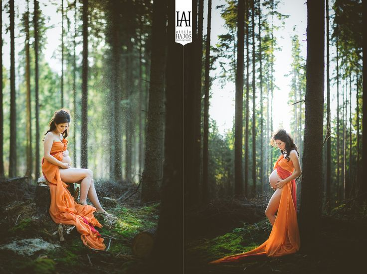 002-maternity photography - poze maternitate - foto Attila Hajos - forest
