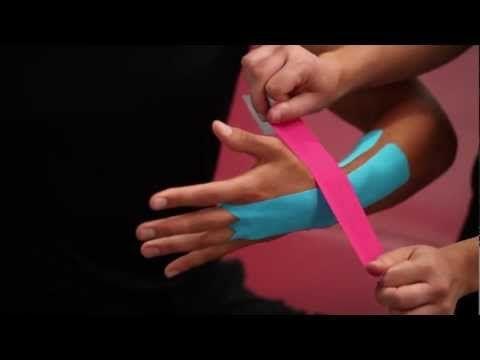 Kintex® Anleitung zum Kinesiologie Tapen bei einer Sehnenscheidenentzuendung im Unterarm - YouTube