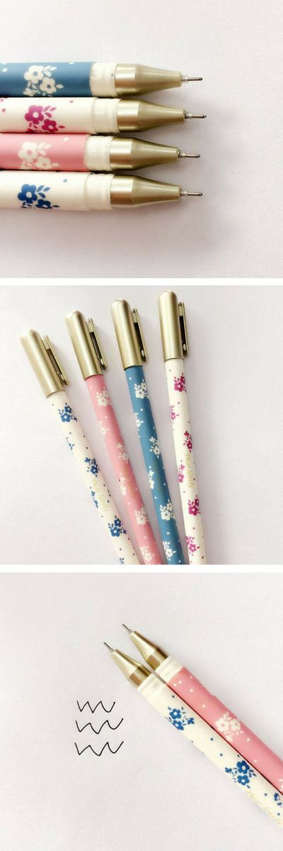 For SALE on ETSY! Floral Gel Pens - Pretty - Cute - Elegant -Black Ink - Gel Pen - Korean Stationery - Cool Stationery. Love these cool pens for bullet journal, writing, bujo, scrapbooking, school, back to school gift or supplies, or just to keep on your desk in your home office! Any fans of kawaii, cute, flowers, Korean and Japanese stationery will love these cool pens as awesome addition to their stationary collection. Buy on Etsy, Delivered worldwide! Cute and cool design :) #etsy…