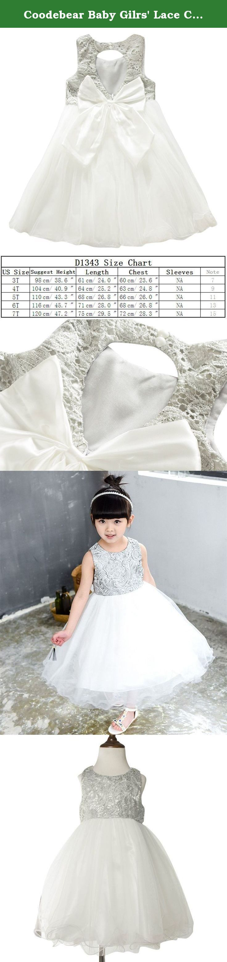 Coodebear Baby Gilrs' Lace Cotton Backless Multilayer Tutu Dress 7T. girls party dress, comfortable lace and tulle material,made in China, has professional designers, produced by big factories, exquisite workmanship, first-class quality,Passed certificate of quality inspection, machine washable.