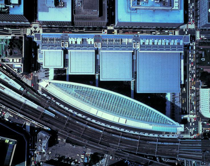 Tokyo International Forum | Rafael Viñoly Architects | Aerial site view