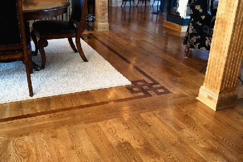 Wood floor borders google search wood flooring pinterest for Hardwood floor designs borders