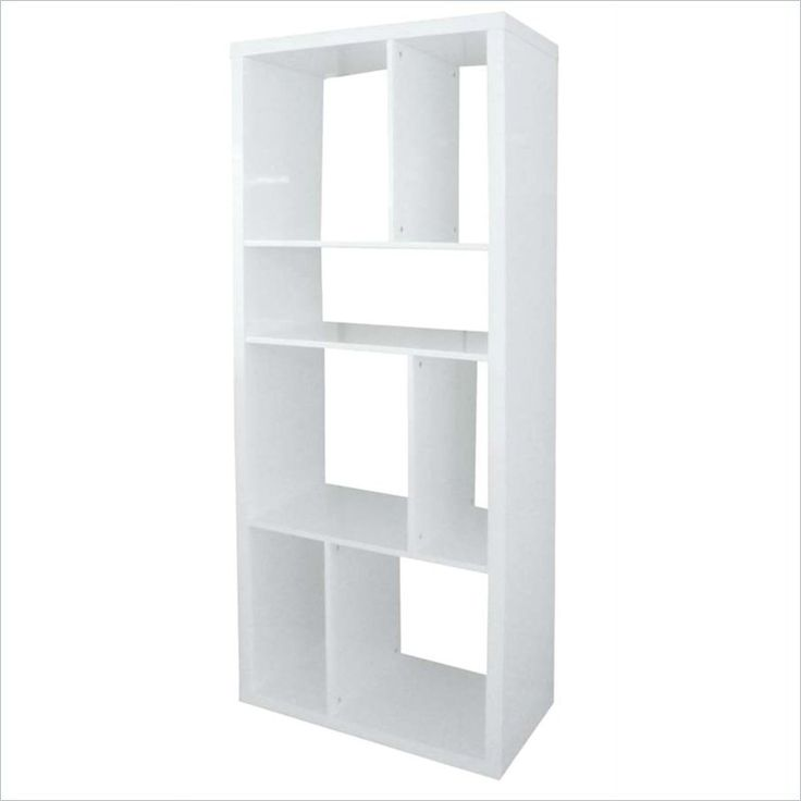 white gloss shelving unit, prehaps something similar for dividing wall ( but wider to suit wall dimensions)Is this sort of what u were thinking , something full length with interesting shelving?