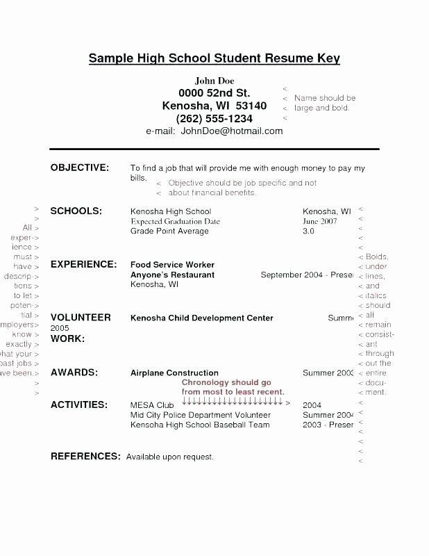 First Job Resume Template Luxury 11 12 Resume Examples For Teenagers First Job High School Resume Template Student Resume Template High School Resume