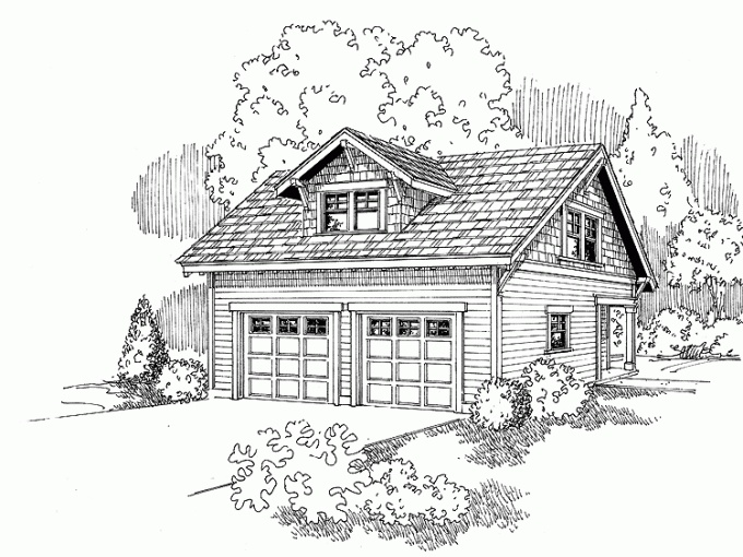 17 best images about garage apartment on pinterest 3 car for Craftsman carriage house plans