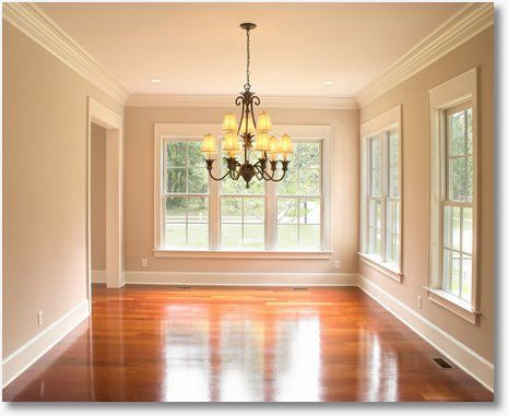 I love this room.  The windows are fantastic, the hardwoods are gorgeous, I love white trim and the crown molding is wonderful!