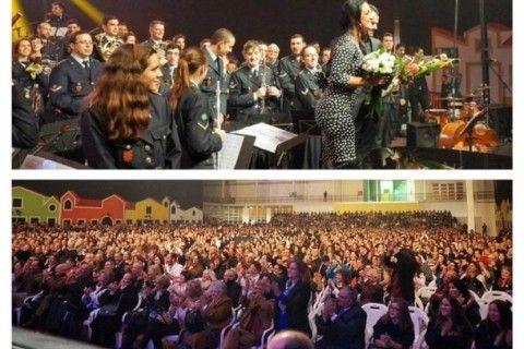 Banda dos Bombeiros Voluntários de Torres Vedras e Rita Guerra esgotam concerto