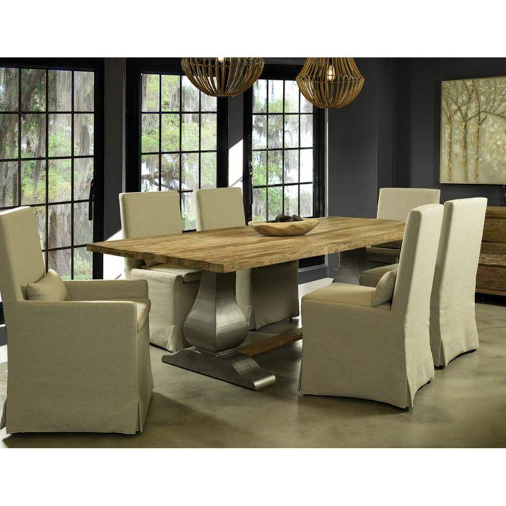 Padmas Plantation Island Estate Reclaimed Teak Dining Table   ISL13 102