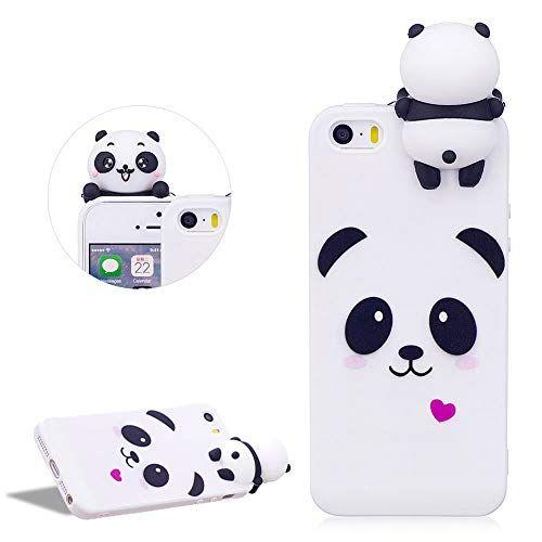 coque panda en silicone iphone 5