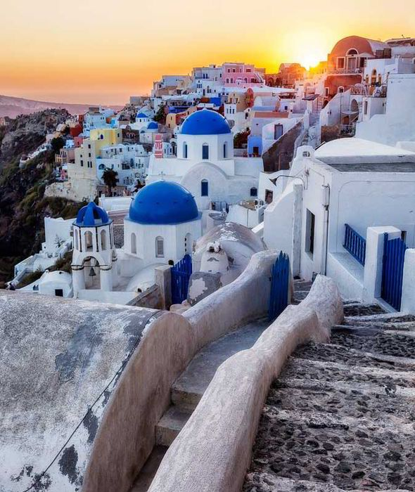The isle of Santorini is a must see in Greece