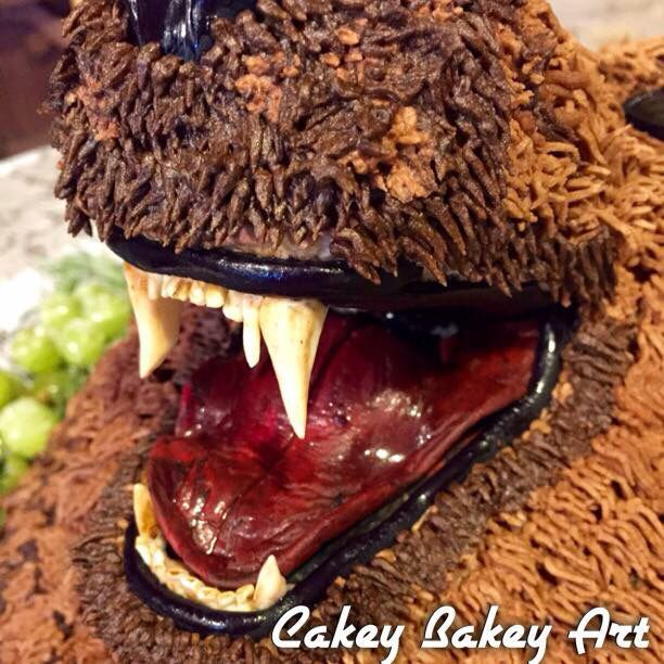 Close Up Of The Mouth Of The Grizzly Bear Cake Bakin