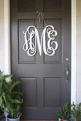 SouthernProperMonograms.com as seen in The Prettiest Front Doors - Front Door Ideas - Oprah.com