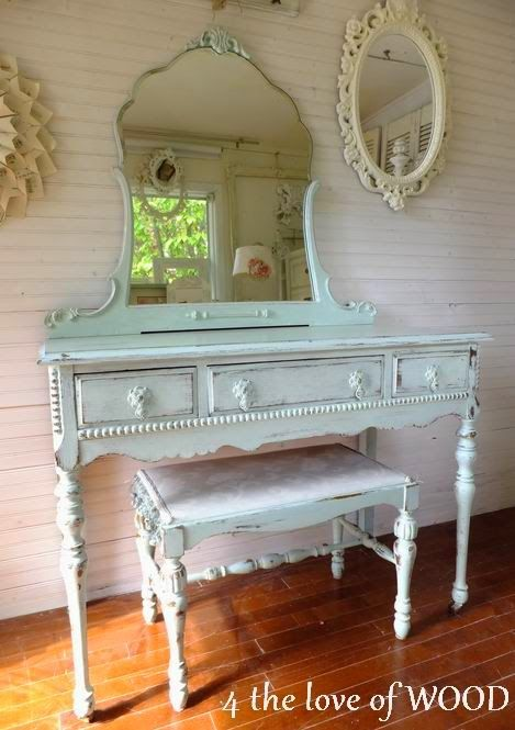 4 the love of wood: SHABBY CHIC VANITY - before & after