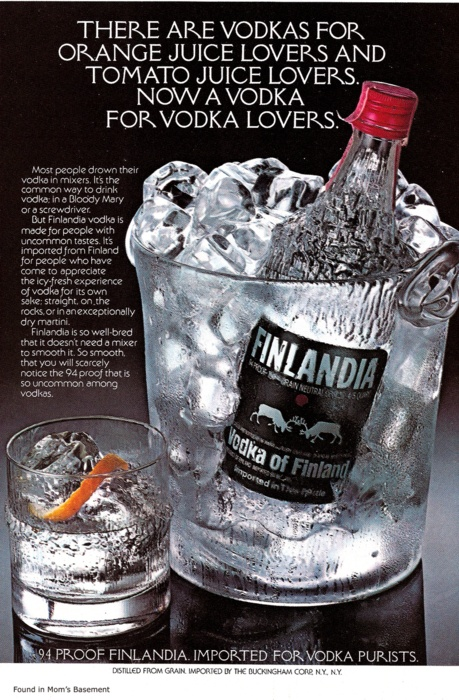 Finlandia Vodka... because everything else is secondary.