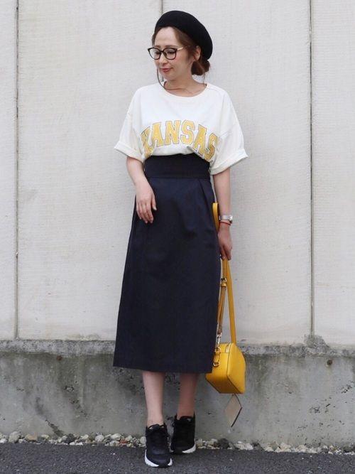 maiko さんの「綿アソートランドネームTシャツ【niko and ...】(niko and...)」を使ったコーディネート