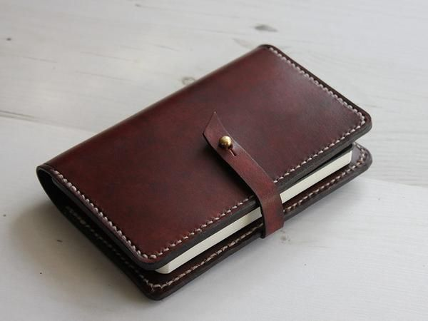 Leather Notebook Cover with Closure - Brown - Hide & Home - 1