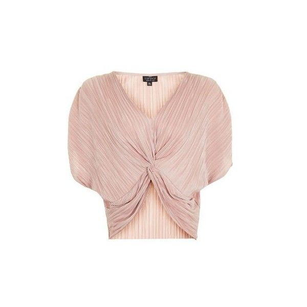 Topshop Petite Batwing Twist Front Top ($30) ❤ liked on Polyvore featuring tops, nude, batwing tops, holiday tops, topshop tops, pink top and evening tops