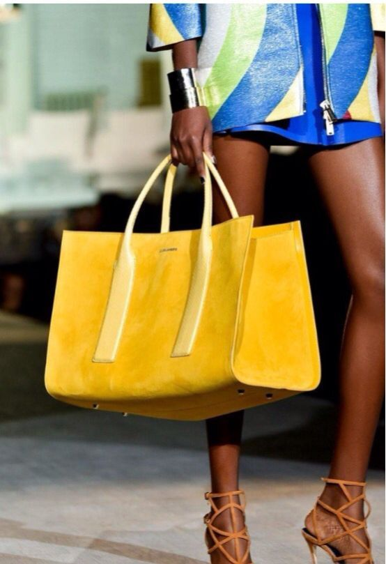 fe8f4021d547 Dsquared2 yellow suede tote