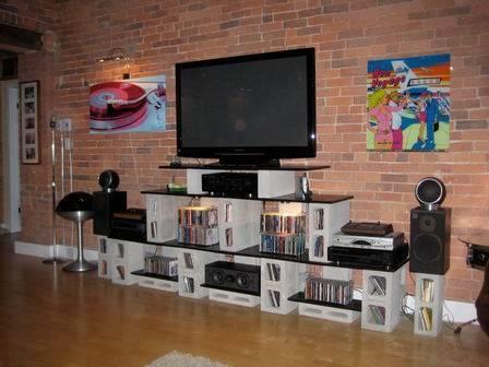 mueble con bloques