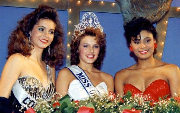 Mona Grudt en el centro fue Miss Universo 1990, a la izquierda Lizeth Mahecha. FOTO Cortesía Miss Universo