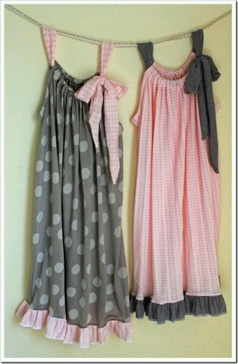 Pillowcase nightgowns: Pillows Cases, Pillowca Nightgowns, Sewing Projects, Nightgowns Tutorials, Pillowcases Nightgowns, Pillowcase Nightgown, Pillowcases Dresses, Diy Pillowca, Pillowca Dresses