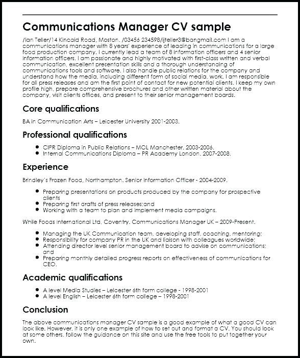 Image Result For Pr Resume Job Resume Samples Sample Resume Resume