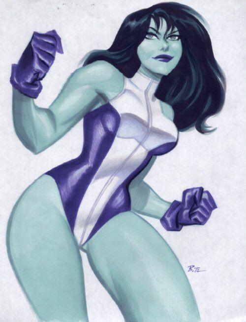 She-Hulk by Bruce Timm                                                                                                                                                                                 More