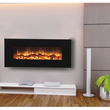 Onyx Touchstone Electric Fireplace - delivers the beauty of a fireplace without the fire and smokey smell. The Onyx has 2 heat settings (high and low), and will heat a room up to 400 sq. ft.. Also, the fireplace's flame can can be used without the heating feature.