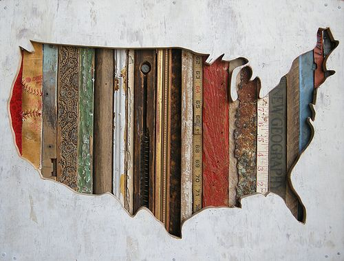 Barn boards map: Idea, Remembrances, Dolan Geiman, Dolangeiman, Art, Mixed Media, Usa Maps, U.S. States, United States