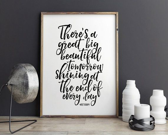 Printable Art There S A Great Big Tomorrow Bedroom Decor Nursery Decor Nursery Wall Art Kids Room Decor Inspirational Quote Home Children