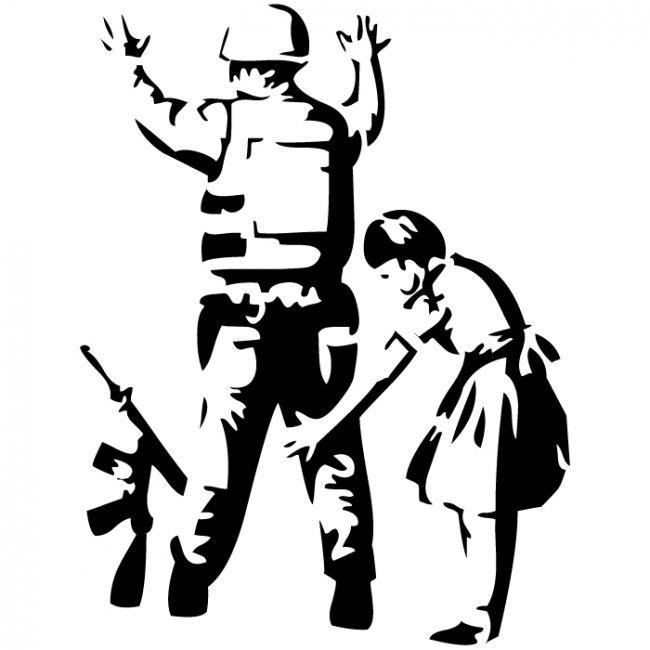 Banksy Girl Frisking Police Wall Sticker Banksy Wall Art