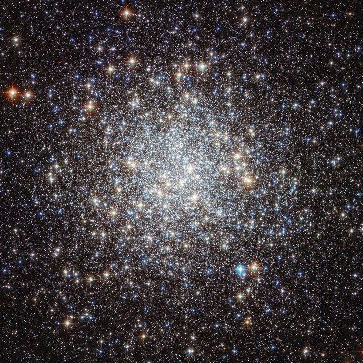 Globular cluster Messier 9 (M9) has over 300,000 stars within a diameter of about 90 light-years. It is 25,000 light-years from Earth, near the central bulge of our Milky Way galaxy in the constellation of Sagittarius. Imagine the night sky on a planet orbiting one of these stars!